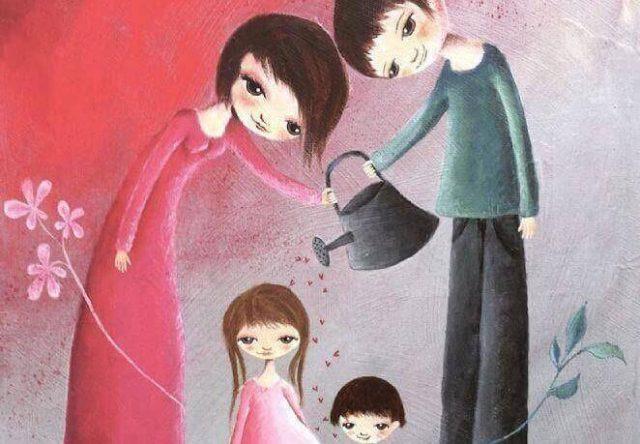 Pais com os filhos