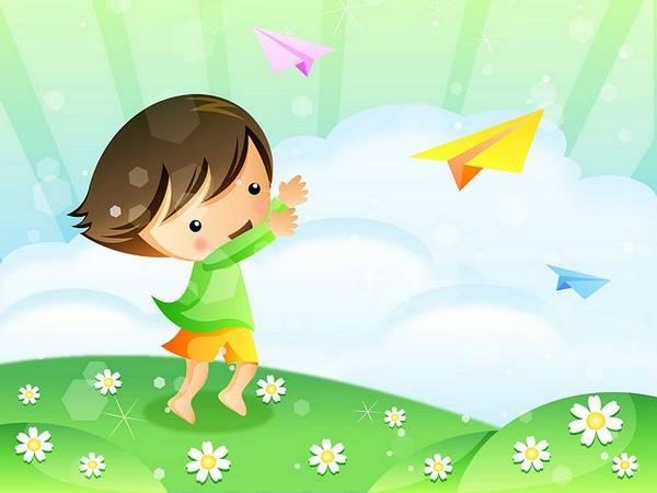 Artigo sobre Maria Montessori: criança a brincar com avião de papel